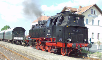 Steam engine at Ebermannstadt Station